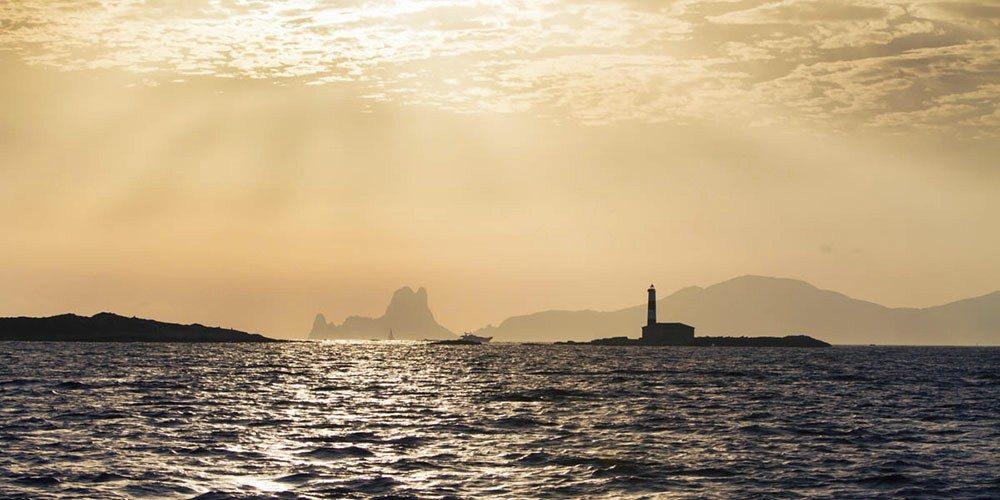 Zonsondergang tijdens de Ibiza Wedding.