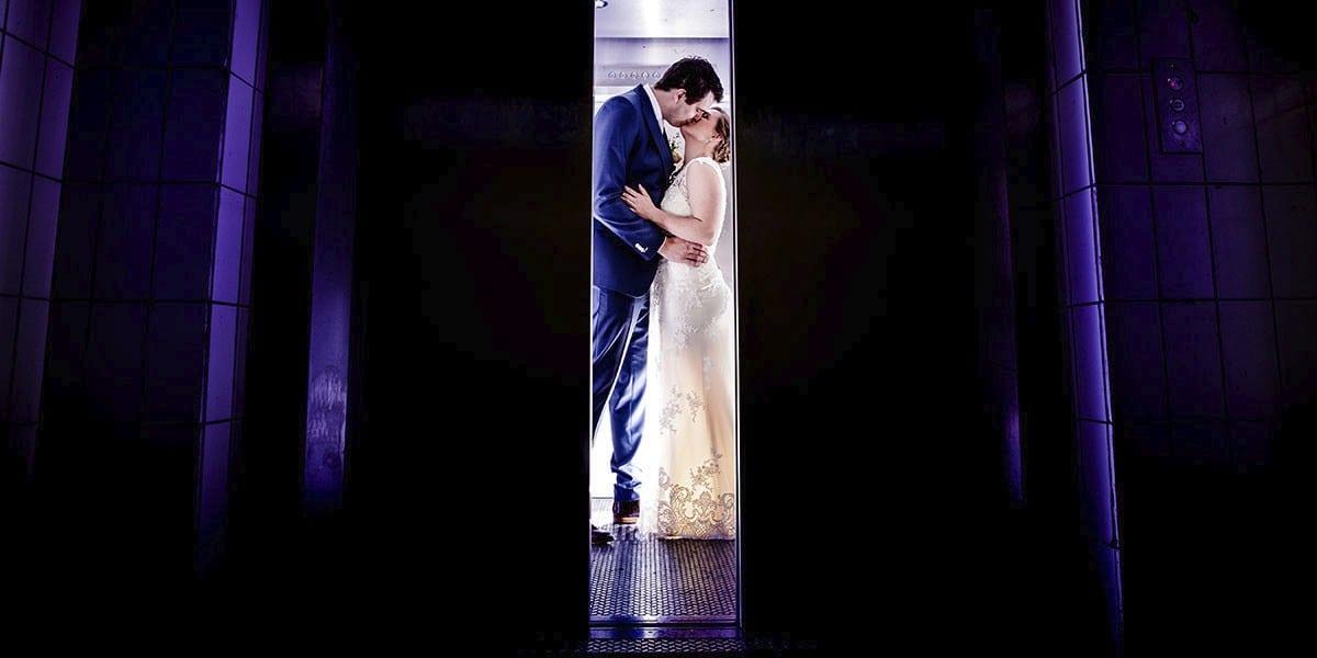 Unieke bruidsfotografie in de lift