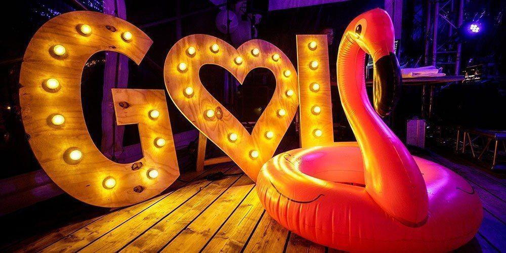 Opblaasbeesten op je trouwfeest.