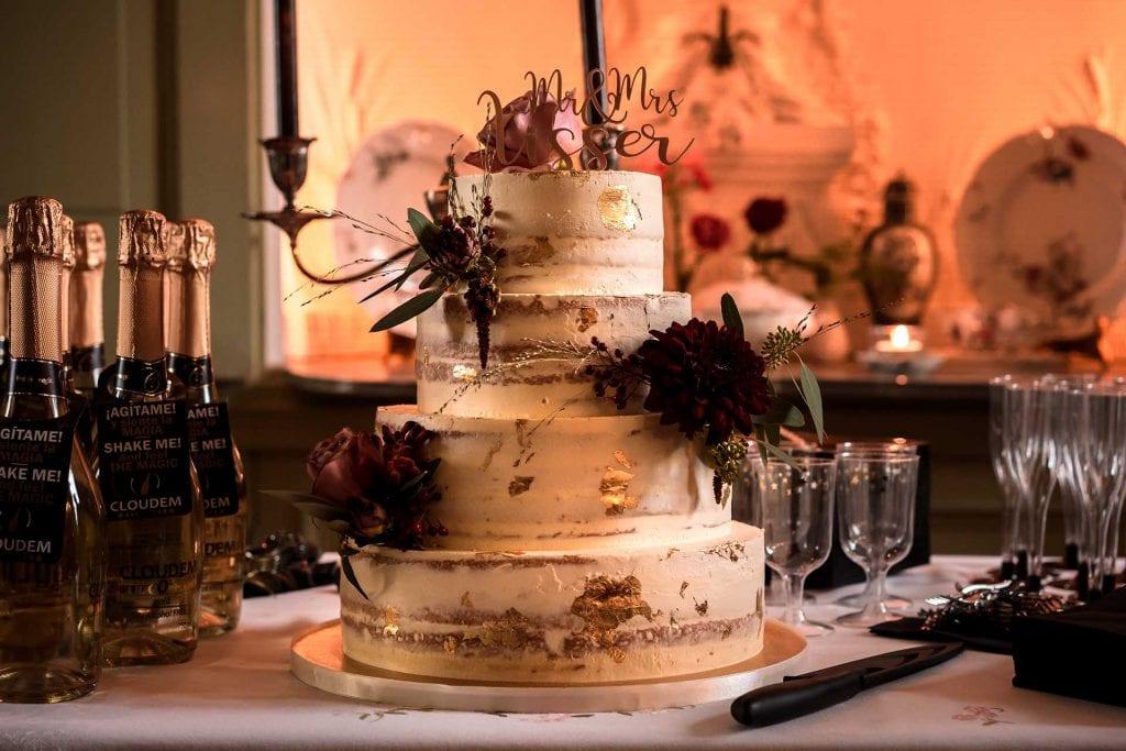 Bruidstaart herfst bruiloft styling