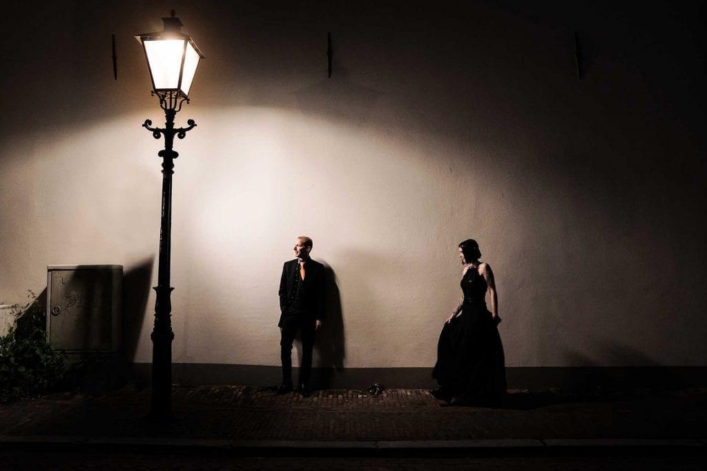 Trouwfoto's maken in het donker
