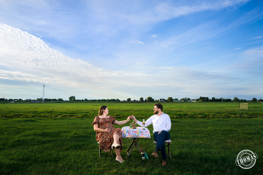 Creatieve eigenzinnige zwangershoot