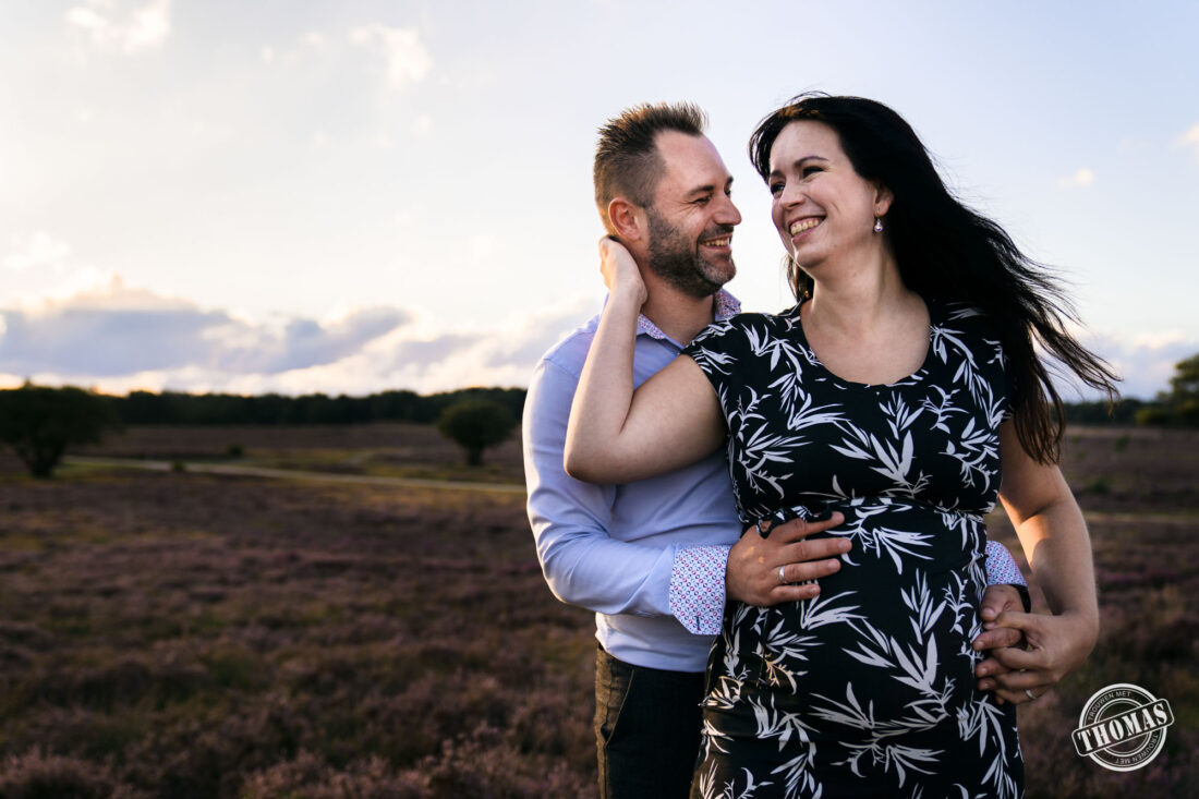 Zwanger fotoshoot met partner
