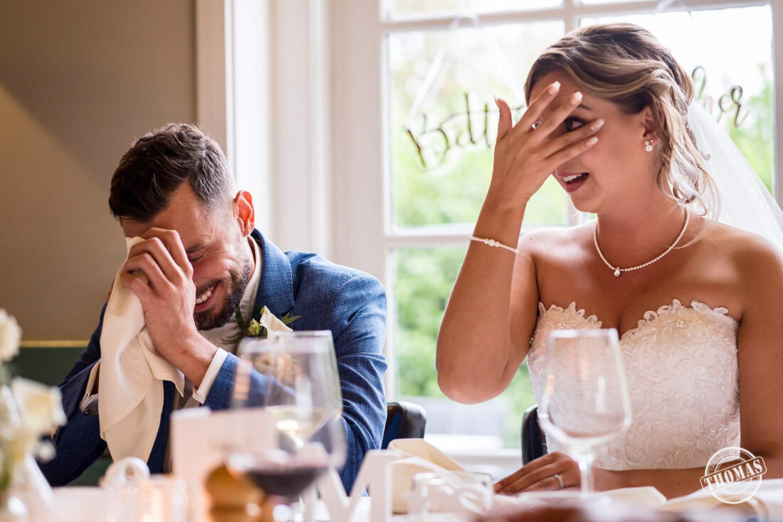 Emotie moment tijdens diner