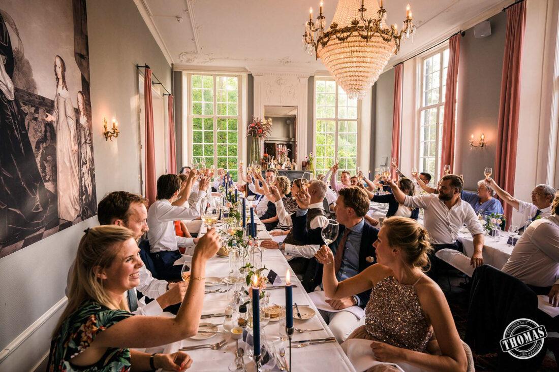 Anderhalve meter diner op bruiloft Kasteel Maurick