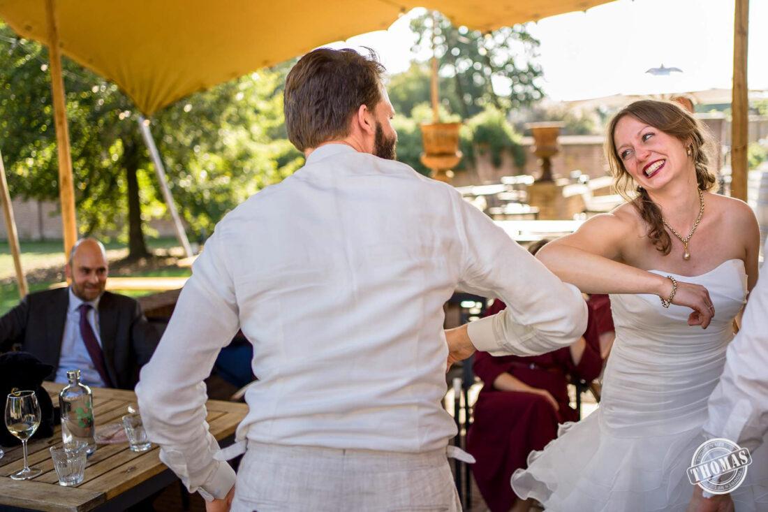 Felicitatie tijdens Corona bruiloft