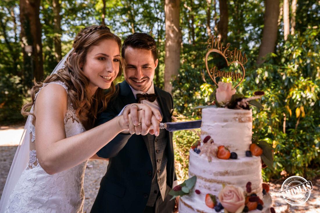 Trouwen in de zomer betekent bruidstaart in de schaduw